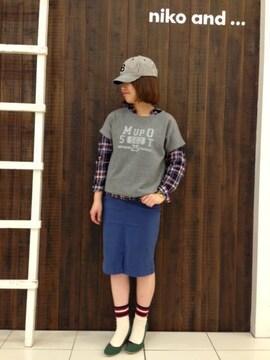 ニコアンド*niko and...★ハニカム裏毛ロールカレッジプルオーバー/新品