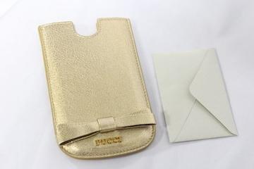EMILIO PUCCI シャイニーレザー 携帯ケース 鑑定済