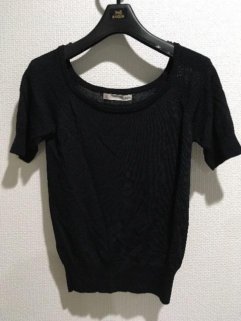 ロイヤルパーティー半袖Tシャツトップスインナー黒ブラック無地  < ブランドの