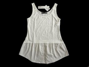 新品 定価2500円 ヘザー heather 裾シャツ 白 タンクトップ