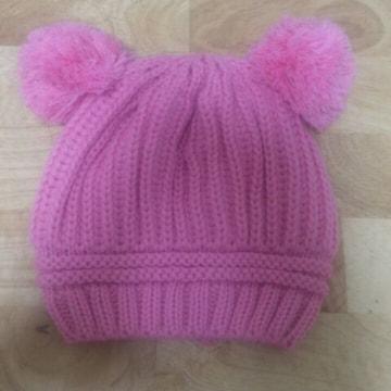 ピンク*くまさん ベビー帽子