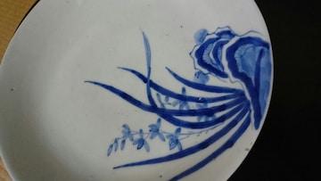 江戸後期→古藍∞鍋島〜シヨウブ草 櫛歯文 皿