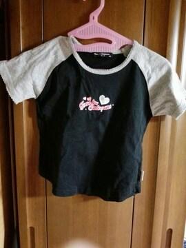 ラメ入りのかわいい半袖Tシャツ