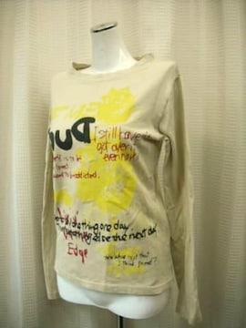 【MAT HAMK TOG】【男性用】ベージュ系プリントTシャツです