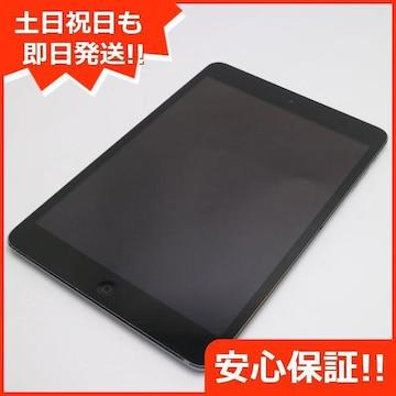 美品●au iPad mini Retina Cellular 16GB スペースグレイ●