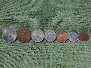 イギリス硬貨7枚セット