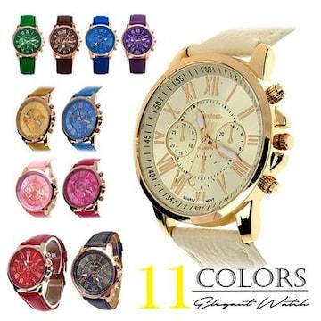 腕時計 太ベルト カジュアル ファッションウォッチ 腕時計