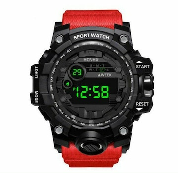 新品 送料無料 海外 HONHX 腕時計デジタル 多機能 LED ブラック