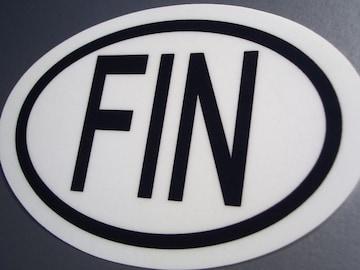bフィンランドビークルID国識別ステッカー