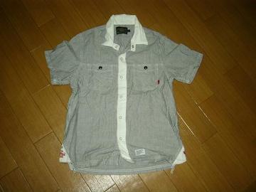 ダブルタップスWTAPSストライプクレリックシャツS半袖