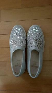 ラインストーンの靴