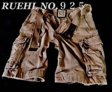 【RUEHL NO.925】最高峰 Vintage ベルト付き カーゴショーツ 36