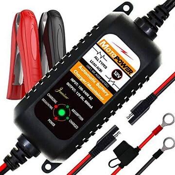MOTOPOWER MP00205A 全自動12Vバイクバッテリー充電器 トリクル