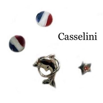 Casselini★イルカ&トリコロールピアス.マリンセット