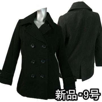 【新品★M】黒のトラッドコート★定番スタイル★k