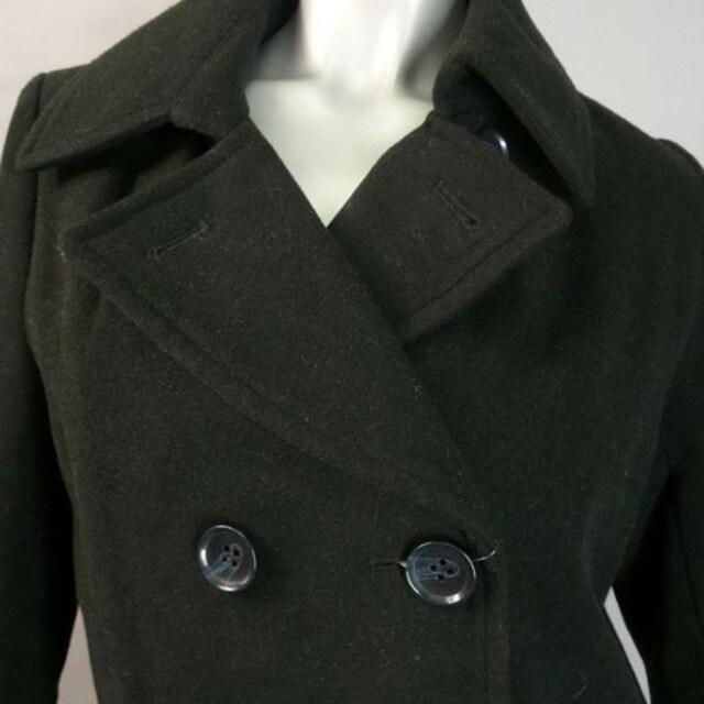 【新品★M】黒のトラッドコート★定番スタイル★k < 女性ファッションの