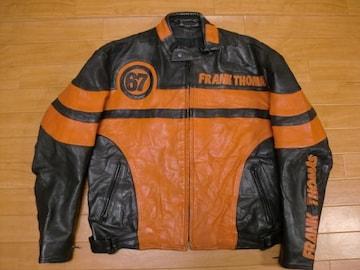 英国 フランクトーマス ライダースジャケット XL〜2XL