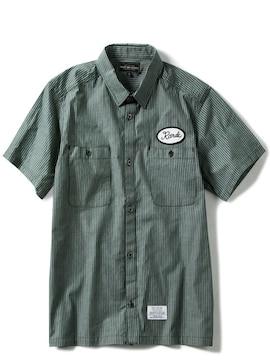 新品ラフランドラゲッドROUGH AND RUGGEDワークシャツS半袖