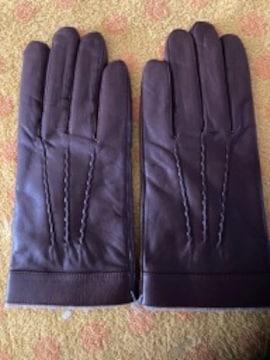 羊皮革手袋ニットインナーL