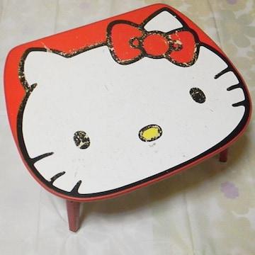 【レア】Hello kitty-ハローキティ92年【限定】顔型テーブル 中古品 キズ有