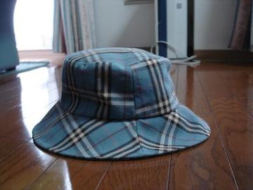 ★バーバリーブルーレーベル かわいいバーバリーチェック帽子★