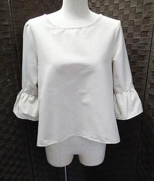 ◆TRUDEA /袖フレア デザイントップス 七分袖/サイズM