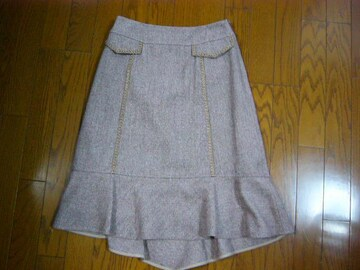 ★キャサリンロス ウールシルクのデザインスカート★激安!