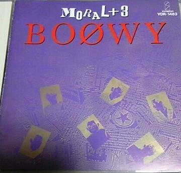 CD BOOWY MORAL+3 帯無し 氷室京介 布袋寅泰