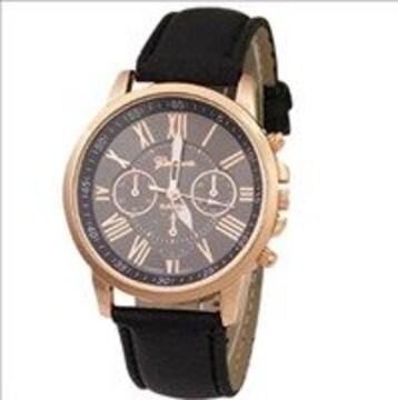 ★一生モノ★ 腕時計 ブラック メンズ レディース