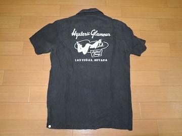 ヒステリックグラマーHYSTERIC GLAMOURボーリングシャツM黒