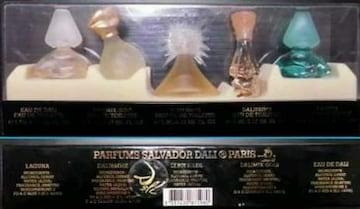 サルバドール・ダリのデザインした香水(瓶)ケース入り5本セット 未使用品