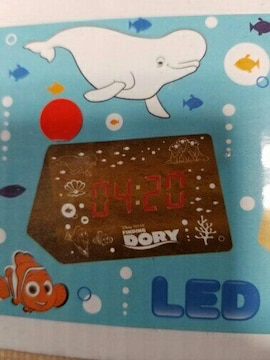 ファインディングドリー LED 時計  新品