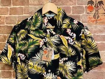 表記L/新品!レーヨン100% アロハシャツ 花柄 サーフ サーファー ヒッピー 西海岸スタイル
