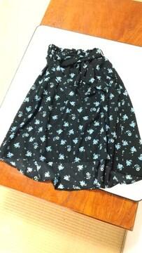 花柄可愛いロングスカート