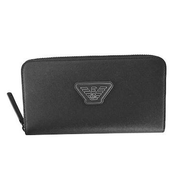 ★エンポリオアルマーニ 長財布(BK)『YEME49 Y019V』★新品本物★