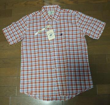 送料込!新品タグ付、メンズL寸、半袖オープンシャツ、ダークベージュ