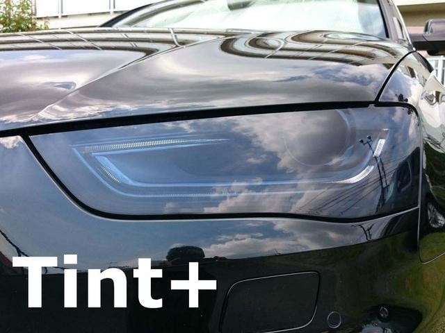 Tint+再使用できるアウディA4/S4 8K/B8後期 ヘッドライト スモークフィルム < 自動車/バイク