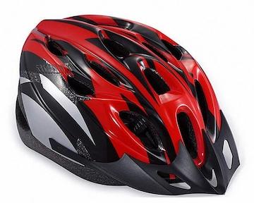 自転車用 サイクリング ヘルメット レッド&ブラック