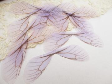 オーガンジーの蝶の羽10枚ラベンダー