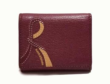 新品ロベルタディカメリーノ財布コンパクトボルドーレ