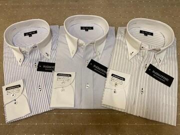 長袖ワイシャツ新品 クレリックB 3枚セット Mサイズ
