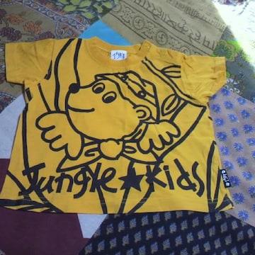 キッズイエロー くまさんTシャツ 80�p