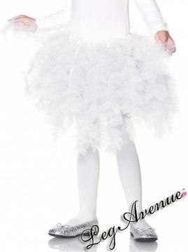 A342)キッズ用LegAvenueアコーディオンパニエ白ホワイトプリンセスコスプレ衣装子供