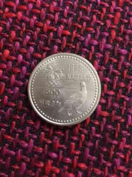 長野オリンピック記念硬貨「長野五輪500円白銅貨」ボブスレー