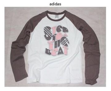 アディダス*adidas★ラグラン袖カットソーTシャツ(OTサイズ)新品大きいサイズ