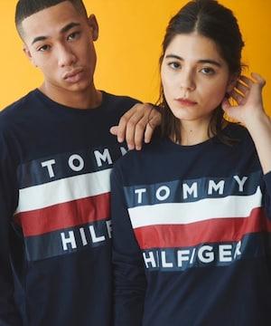 限定タグ付き新品トミーヒルフィガー/ブランドロゴTシャツトップ