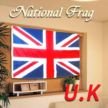 イギリスの国旗 星条旗 横幅 約150cm〜160cm 縦幅 約90〜95cm