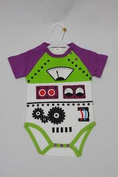 お買得!!値下げ中!可愛いロボット柄半袖ロンパス80★ROBOT