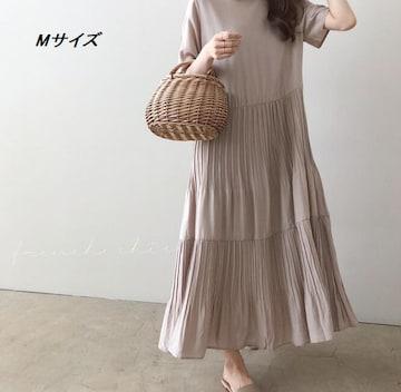 【おしゃれロングワンピース】ゆったり体型カバー★スーカート
