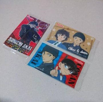 【名探偵コナン】ウエハースシール《赤井・コナン・真純》3枚セット